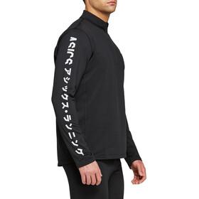 asics Katakana Shirt Hiver Manches longues Zip 1/2 Homme, performance black